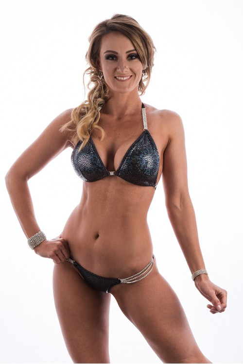 Black Cracked Diamond Glam Fit Bikini