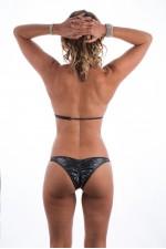 Black Cracked Diamond Glam Fit Bikini
