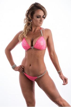 Neon Coral Sequin Glam Fit Bikini