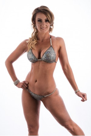 Silver Muscle Dazzle Bikini